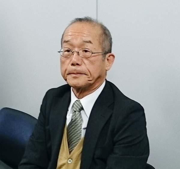 「契約違反は今回だけ」と話す切田社長(C)共同通信社