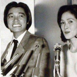 左上から時計回りに、安藤昇、萩原健一といしだあゆみ(80年の婚約発表会見)、岩城滉一
