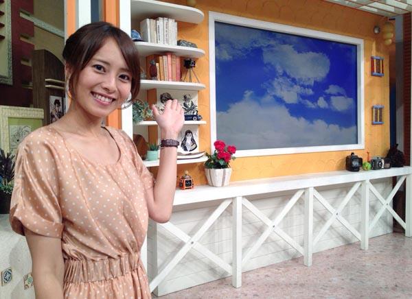 日本テレビアナウンサー時代の上田まりえさん(提供写真)
