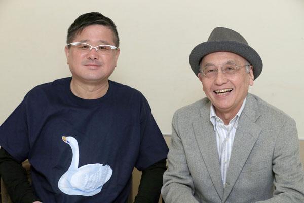 三遊亭白鳥(左)と吉川潮/(C)日刊ゲンダイ