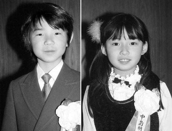 当時の吉岡秀隆と中嶋朋子/(C)共同通信社
