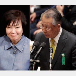 安倍昭恵夫人とNHK上田会長(C)日刊ゲンダイ