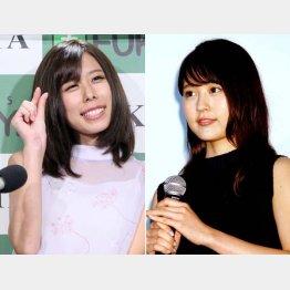 有村藍里(左)の赤裸々告白に妹・有村架純も複雑…(C)日刊ゲンダイ