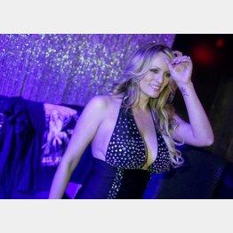 ポルノ女優ストーミー・ダニエルズの告白は2200万人が視聴(C)ロイター=共同
