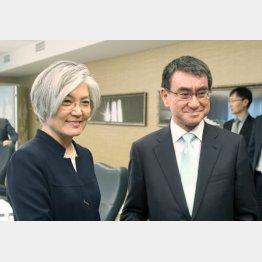 韓国外相と2週間前に会談したばかり(C)共同通信社