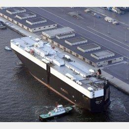 オスプレイを積んだとみられる輸送船(C)共同通信社