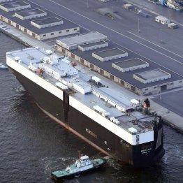 オスプレイを積んだとみられる輸送船
