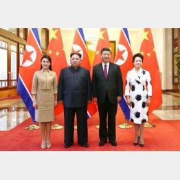 電撃的だった中国訪問(新華社=共同)