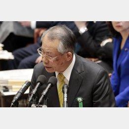 答弁はあの方と同じ!(NHKの上田会長)/(C)日刊ゲンダイ
