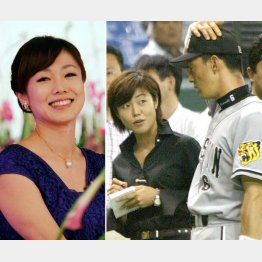 かつてはスポーツキャスターとしても活躍(03年・写真右)/(C)日刊ゲンダイ