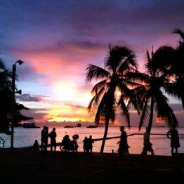 美しい夕日が見られる タイ・パタヤのスタバは世界一
