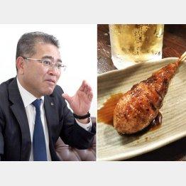 大阪王将の「イーアンド」仲田浩康さん、「つくねは粗くたたいた食感がいい」(C)日刊ゲンダイ