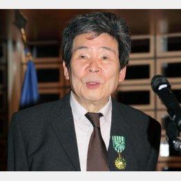 2015年、フランスの芸術文化勲章オフィシエを贈られ、叙勲式でスピーチする高畑勲さん(C)共同通信社