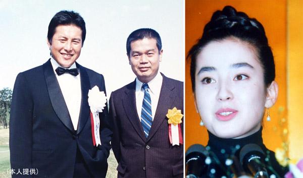 ジャンボ尾崎と。右は、宮沢りえ(C)日刊ゲンダイ