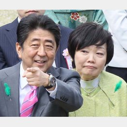 安倍首相夫妻(C)日刊ゲンダイ