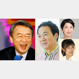左から、池上彰、宮本隆治、宮崎美子(右上)と小島瑠璃子(C)日刊ゲンダイ