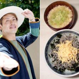 友井雄亮さんの定番は「貧乏メシ」とキャベツと卵の味噌汁