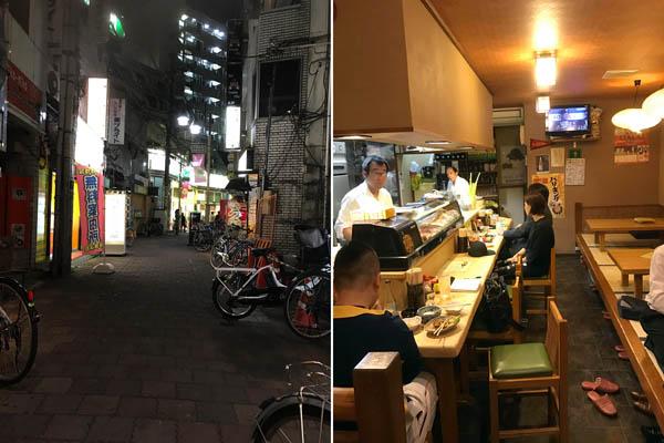 小岩地蔵中央通り(左)はセンベロ地帯、「葵」はカップルで飲むのもいい雰囲気/(C)日刊ゲンダイ