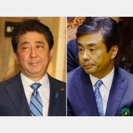 柳瀬元秘書官(右)の国会招致は安倍首相の虚偽答弁に直結か(C)日刊ゲンダイ