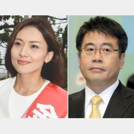 NHKの大越健介キャスターのほか金子恵美氏(左)の名前も(C)日刊ゲンダイ