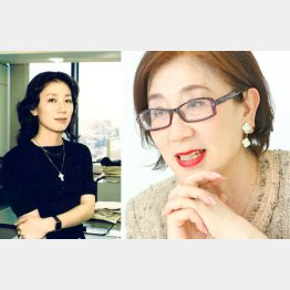 左が扶桑社宣伝部時代の平田静子さん(左=提供写真)
