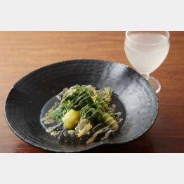 春野菜と山菜の酢味噌和えジュレ(C)日刊ゲンダイ
