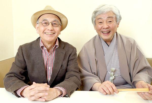 吉川潮と柳家喬太郎(C)日刊ゲンダイ