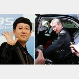 セクハラでアウトの福田前次官(右)と小籔千豊(C)日刊ゲンダイ