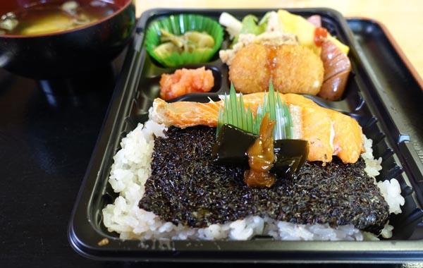 記憶に強く残る「マルニ水産」の海苔弁/(C)日刊ゲンダイ