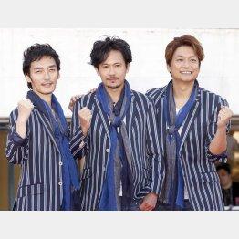 元SMAPの3人はジャニーズを離れた(C)日刊ゲンダイ
