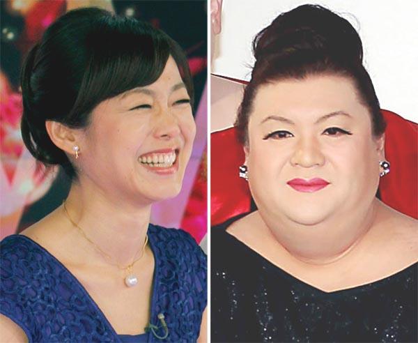 有働由美子(左)とマツコ・デラックス(C)日刊ゲンダイ