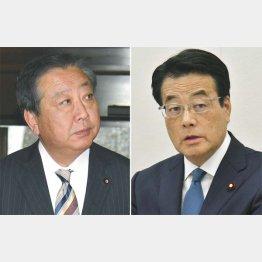 野田前首相と岡田元代表(右)/(C)日刊ゲンダイ