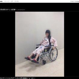 仮面女子・猪狩さんは車椅子生活…強風で看板倒壊の責任は