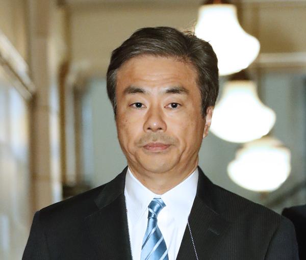 国会に入る柳瀬元首相秘書官(C)日刊ゲンダイ