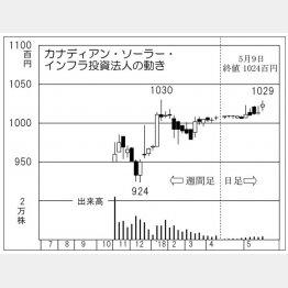 カナディアン・ソーラー・インフラ投資法人(C)日刊ゲンダイ