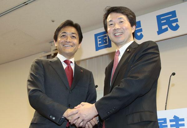 玉木雄一郎、大塚耕平の両代表(C)日刊ゲンダイ