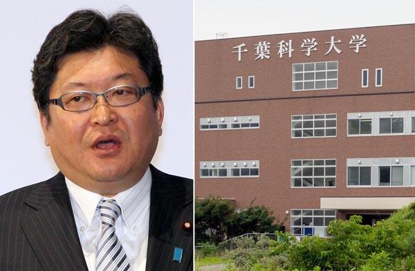 千葉科学大(左)で名誉客員教授を努めていた萩生田光一幹事長代行/(C)共同通信社