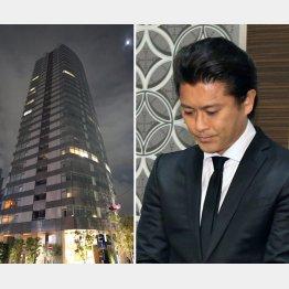 事件現場となった六本木のマンション(C)日刊ゲンダイ