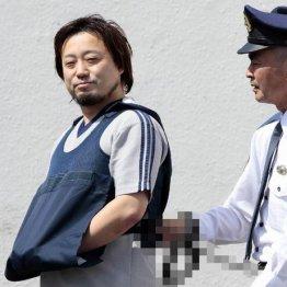 送検される小田求容疑者