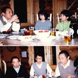 塾生と食卓を囲む倉本氏。上段写真の中央が吉田さん、下段写真の中央が田子さん