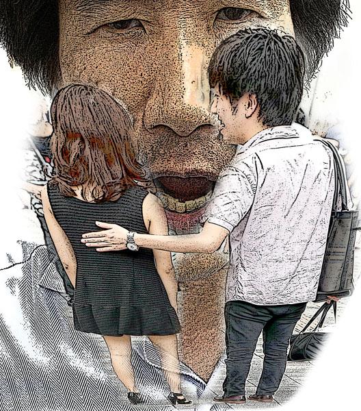 2人きりになった途端…(C)日刊ゲンダイ