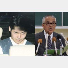 小林遼容疑者(左)と新潟県警の青木刑事部長(C)共同通信社