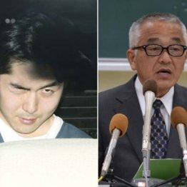 小林遼容疑者(左)と新潟県警の青木刑事部長