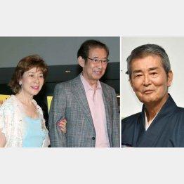 高島夫妻と渡哲也(C)日刊ゲンダイ