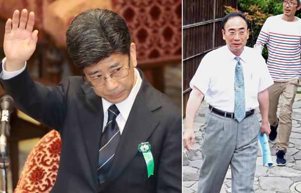 籠池氏(右)は交流されたままも、佐川氏は不起訴になるのか/(C)日刊ゲンダイ