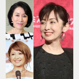 左上から時計回りに高畑淳子、斉藤由貴、矢口真里(C)日刊ゲンダイ