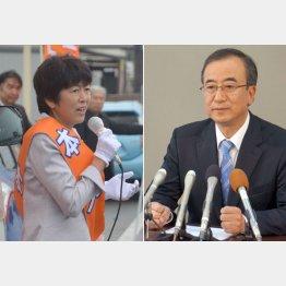 大接戦の池田候補(左)と花角候補/(C)日刊ゲンダイ