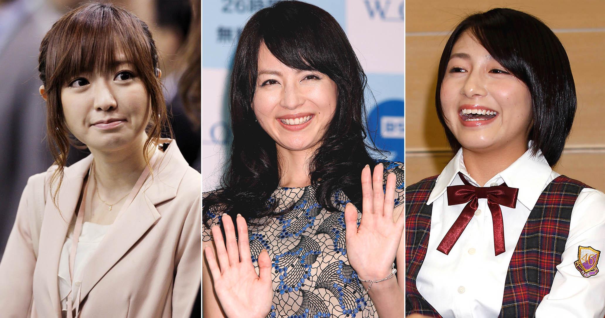 (左から)紺野あさ美、平井理央、市來玲奈(C)日刊ゲンダイ