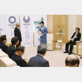 知事に条例施行後の問題点を伝える組合(C)日刊ゲンダイ