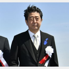 海上保安庁の観閲式に臨む安倍首相(C)日刊ゲンダイ